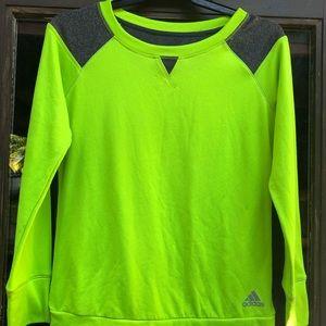 Adidas Women's Lime/Dark Gray Sweatshirt Size S